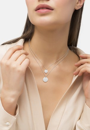 Necklace - silver-colored polished