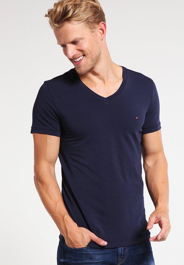 Tommy Hilfiger T-shirt basic - navy/granatowy Odzież Męska JGZA