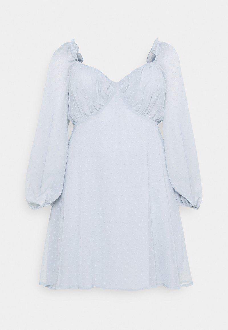 Missguided Plus - DOBBY MILKMAID - Kjole - blue