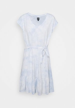 TIERED - Jersey dress - cloudy blue