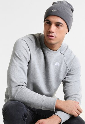 BEANIE - Beanie - dark grey/metallic silver