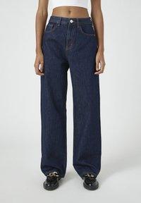 PULL&BEAR - Jeansy Straight Leg - dark blue - 0