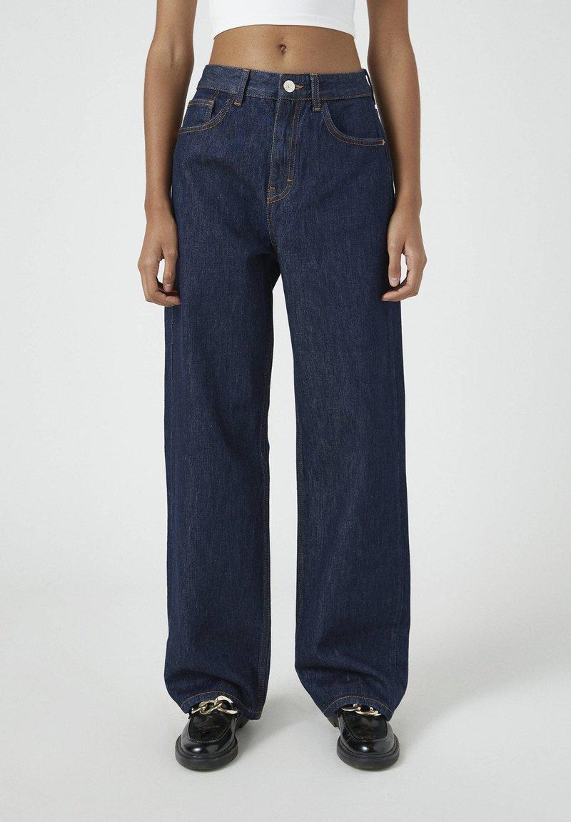 PULL&BEAR - Jeansy Straight Leg - dark blue