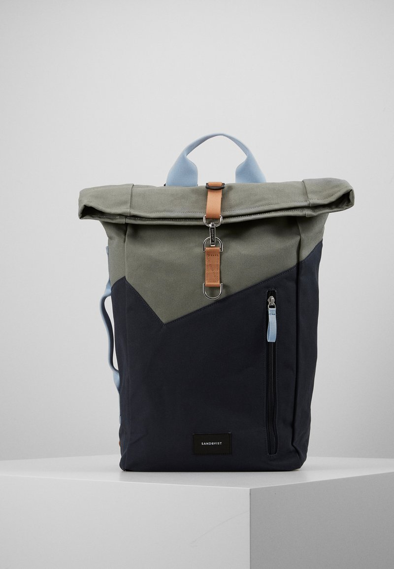 Sandqvist - DANTE HOOK - Rucksack - light green/dark blue