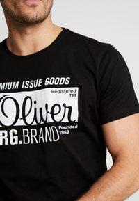 s.Oliver - KURZARM 2 PACK - Print T-shirt - black - 5