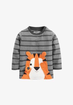 TIGER APPLIQUÉ  - Long sleeved top - grey