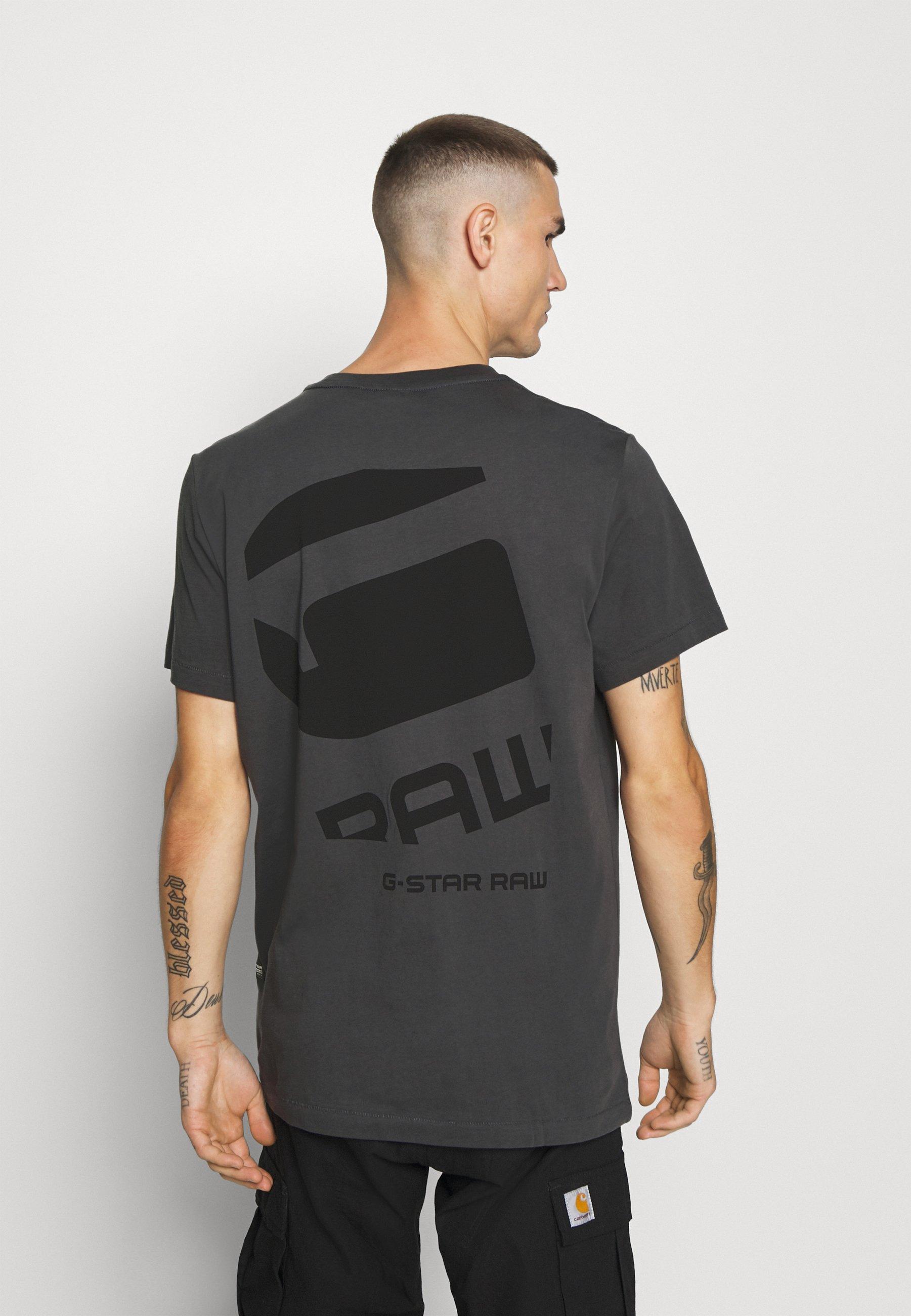 G-Star BIG LOGO BACK  - Print T-shirt - light shadow 1H4A0