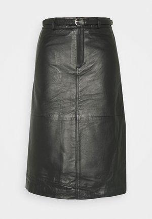 SLFKIM - Áčková sukně - black