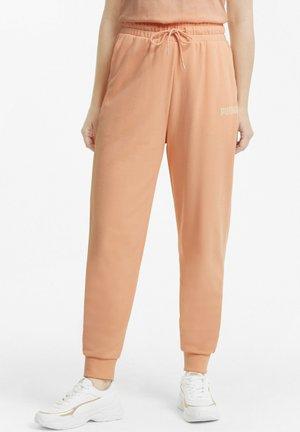 MODERN BASICS HIGH WAIST - Tracksuit bottoms - apricot blush