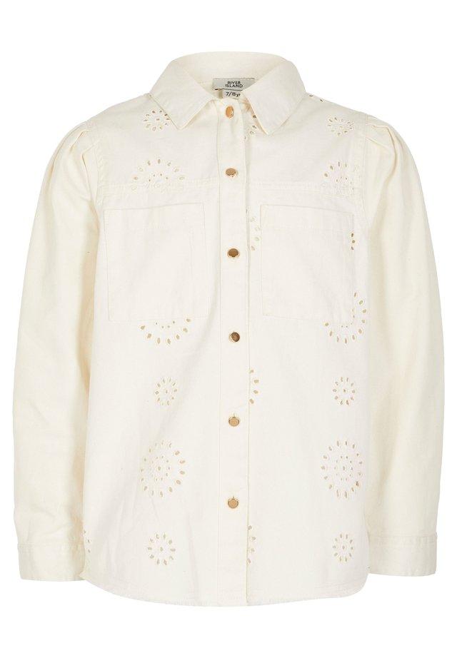LONG SLEEVE - Button-down blouse - white