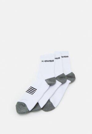 SPORT SOCKS 3 PACK UNISEX - Sports socks - white