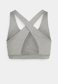 Cotton On Body - WORKOUT CUT OUT CROP - Light support sports bra - mid grey marle - 1