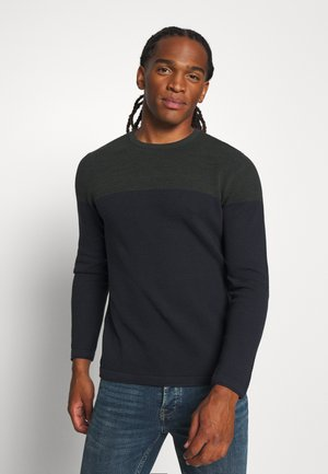 ONSPANTER BLOCK CREW NECK - Strickpullover - deep depths