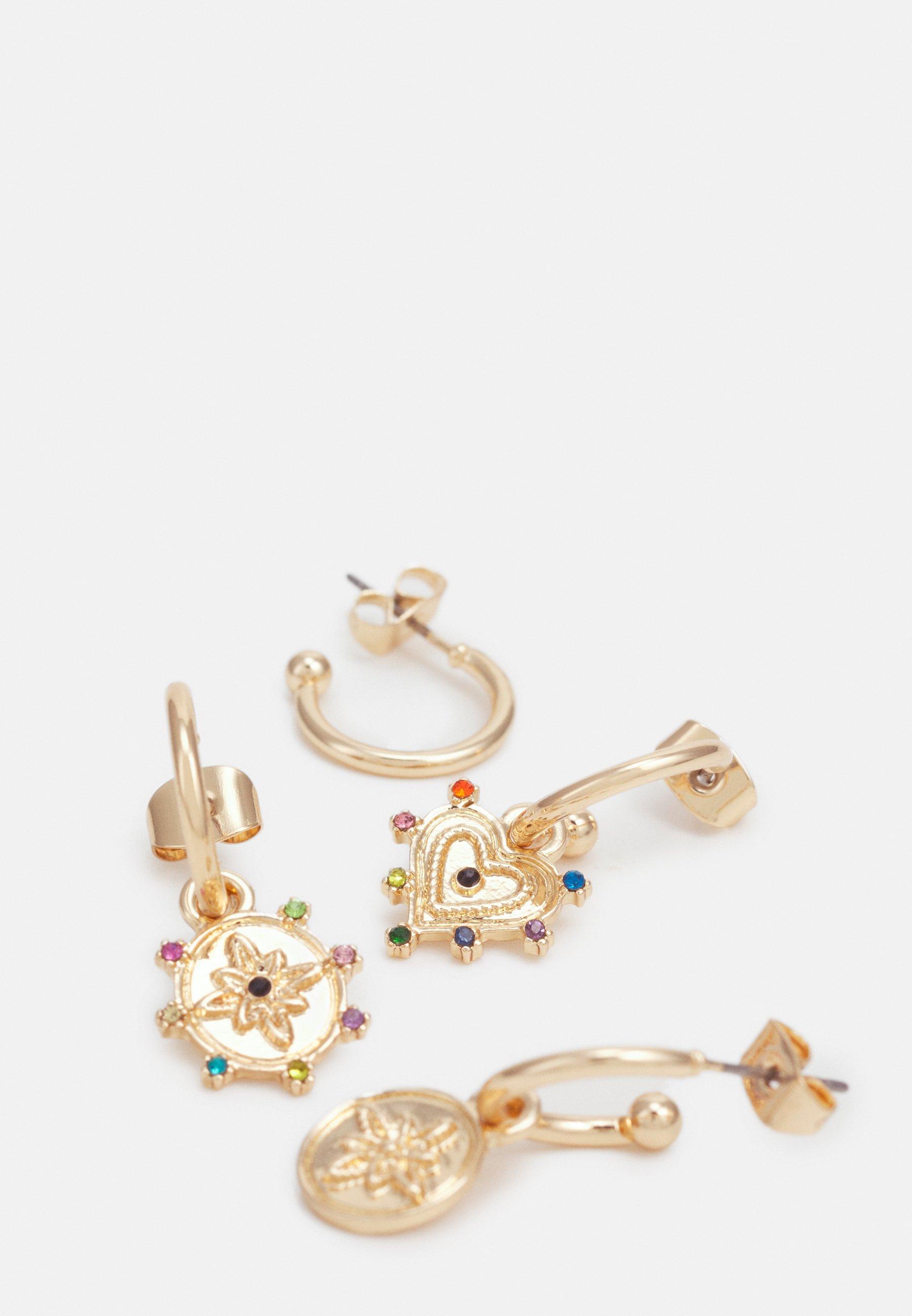 Pieces PCLUCY EARRINGS 4 PACK - Øredobber - gold-coloured/gull TVKgGnjEL7dHlu6