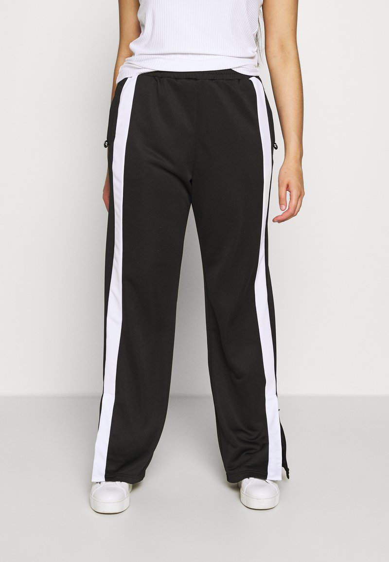 Fila Plus - SAMAH TRACK PANT - Verryttelyhousut - black/bright white