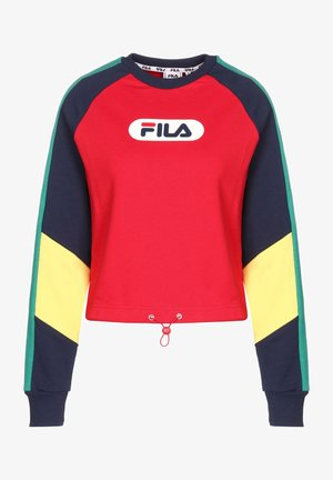 BANE BLOCKED CROPPED - Sweatshirt - bl iris/td red/green/aurora
