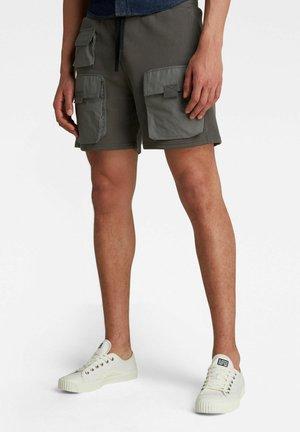 MIXED WOVEN CARGO SWEAT SHORTS - Shorts - gs grey