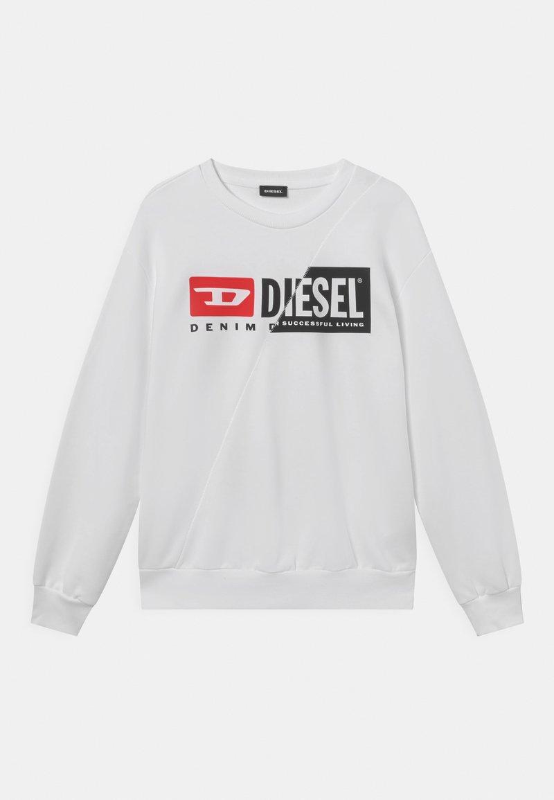 Diesel - SGIRKCUTY OVER UNISEX - Sweatshirt - bianco