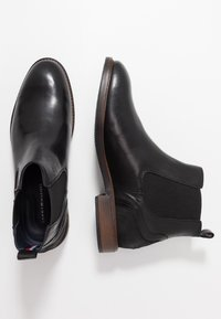 Tommy Hilfiger - ELEVATED MIX CHELSEA - Classic ankle boots - black - 1