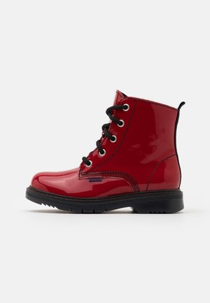 PRISMA - Lace-up ankle boots - rosso