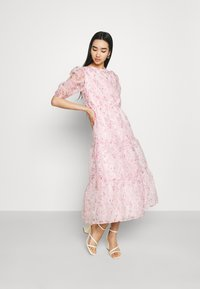 Missguided - FLORAL TIE BACK SMOCK DRESS - Cocktail dress / Party dress - pink - 0