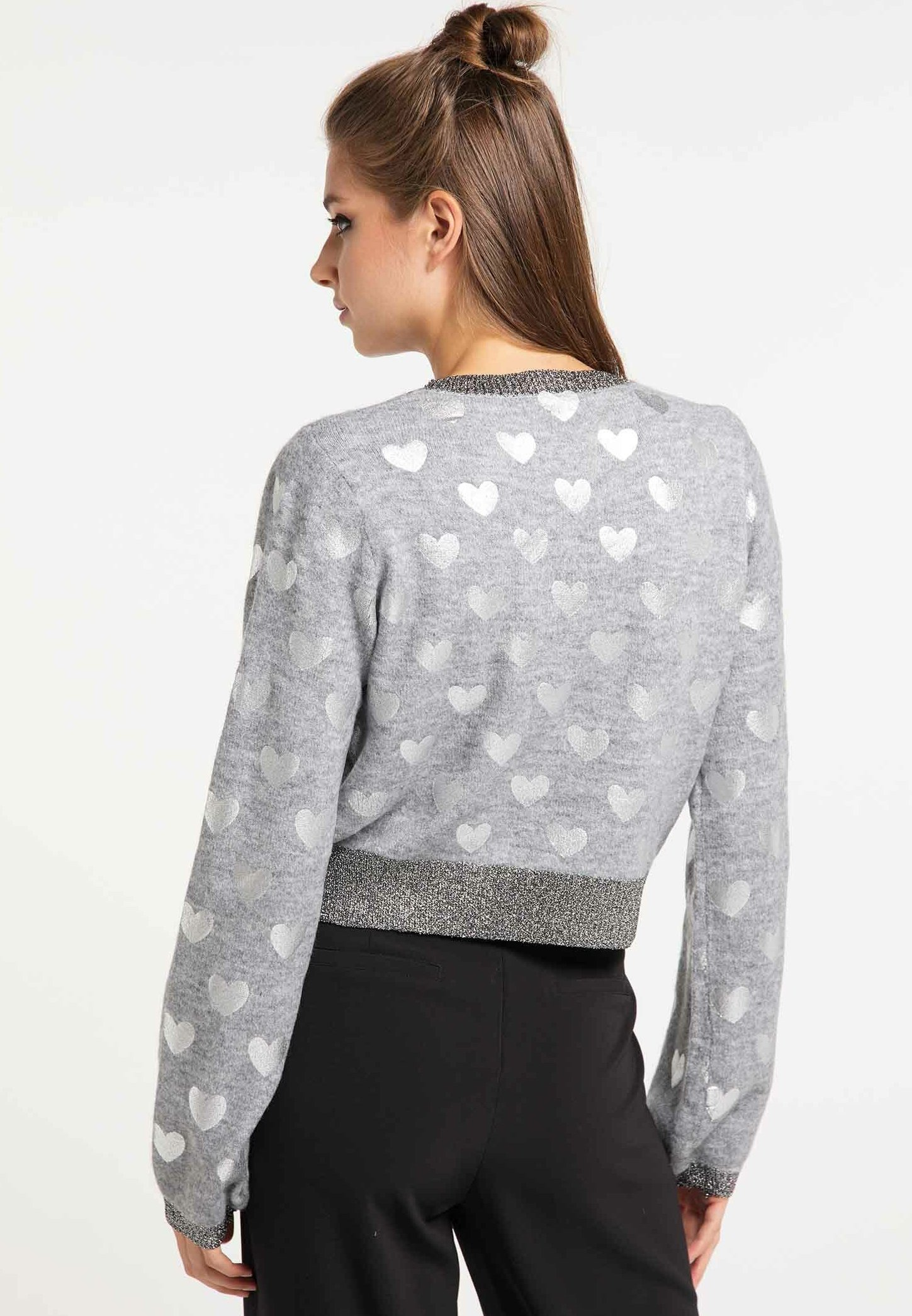 myMo at night Sweater - grey - Dames jas Nieuw