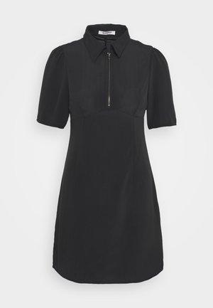 ZIP FRONT MINI DRESS - Jurk - black