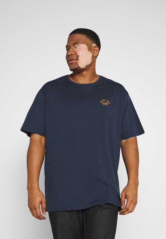 CHEST EMBROIDERY TEE - T-shirts med print - navy