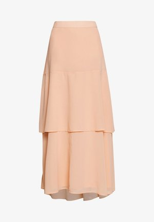 BLUSH TIERED SKIRT - Maxi skirt - blush
