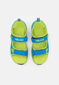 TrollKids - KIDS ORRESTRAND UNISEX - Chodecké sandály - medium blue/lime - 3