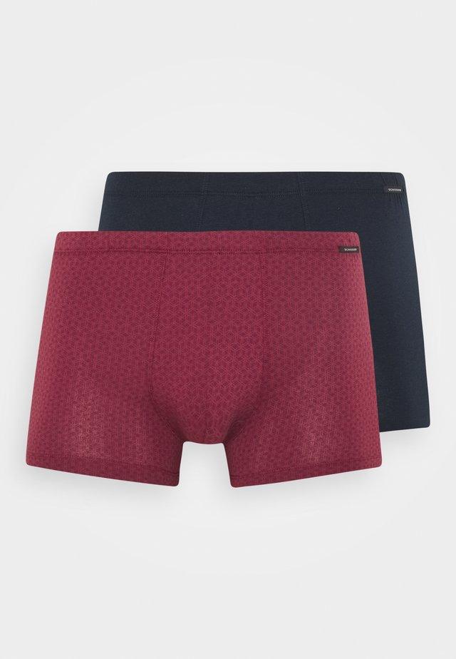 2 PACK - Pants - dark blue/dark red