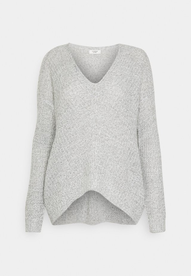 JDYNEW MEGAN - Strickpullover - cloud dancer/black