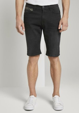 MIT SUPERSTRETCH - Denim shorts - black stone wash denim