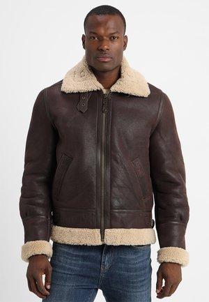 Leather jacket - cordovan