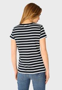 Armor lux - MORGAT MARINIÈRE - Print T-shirt - rich navy/blanc - 1