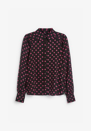Button-down blouse - black/pink