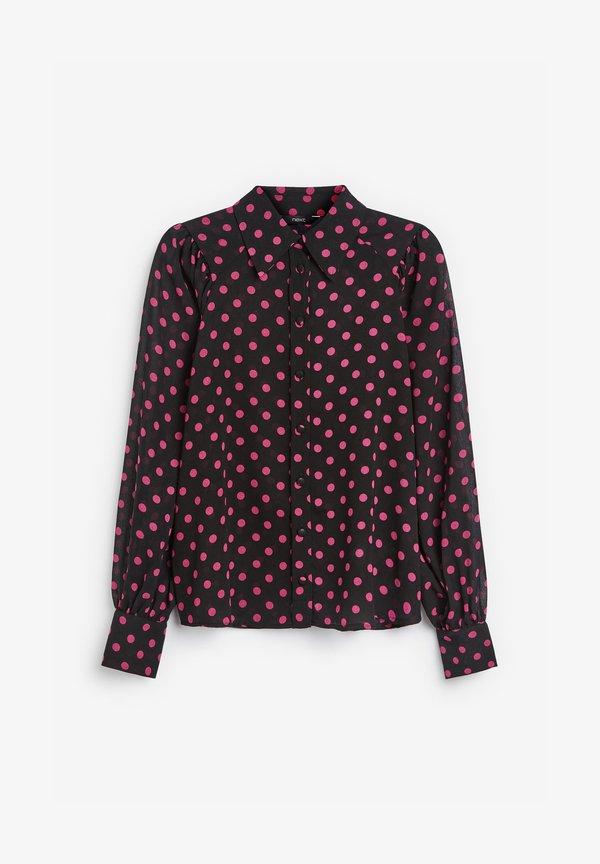 Next Koszula - black/pink/czarny IHHB
