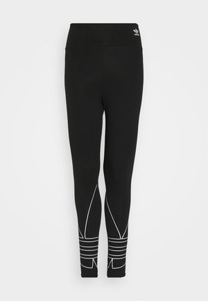 LOGO TIGHTS - Leggingsit - black