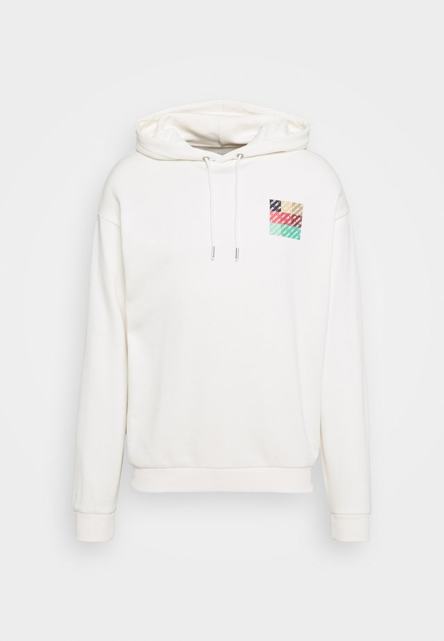 HOODY WITH PRINT - Huppari - white