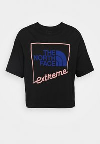 The North Face - EXTREME CROP TEE - Print T-shirt - black - 4