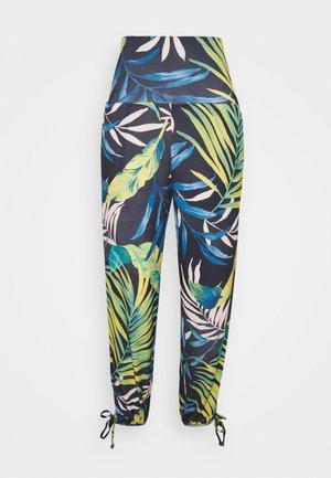 PANT - Trousers - black/blue