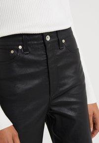 rag & bone - JANE TROUSER - Spodnie skórzane - black - 4