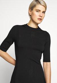 HUGO - SHATHA - Pletené šaty - black - 3