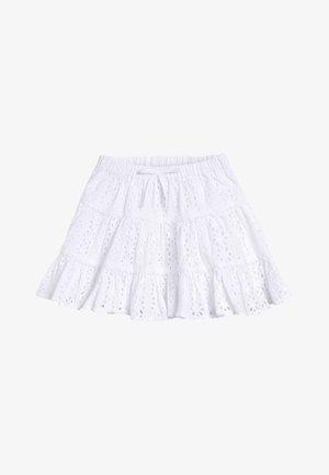 WHITE BRODERIE TIERED SKIRT (3MTHS-7YRS) - Áčková sukně - white