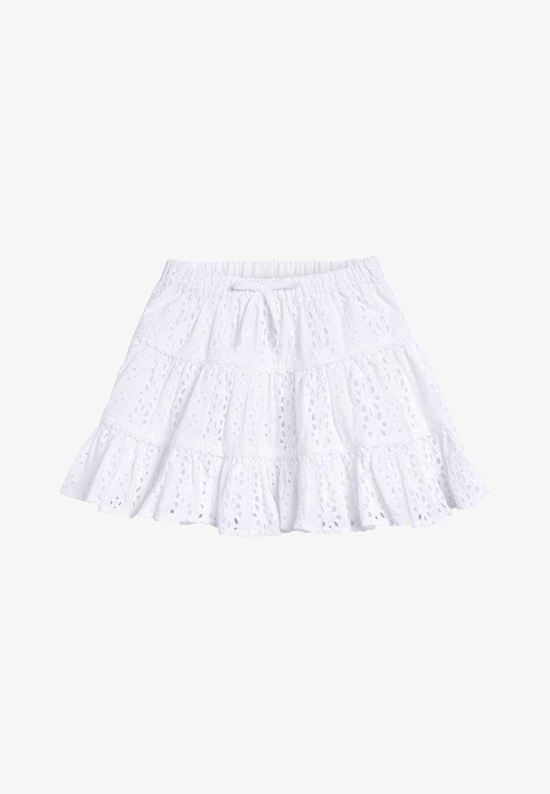 Next - WHITE BRODERIE TIERED SKIRT (3MTHS-7YRS) - A-line skirt - white