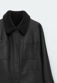 Massimo Dutti - Faux leather jacket - dark grey - 5