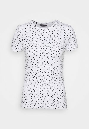 FITTED - Camiseta estampada - white