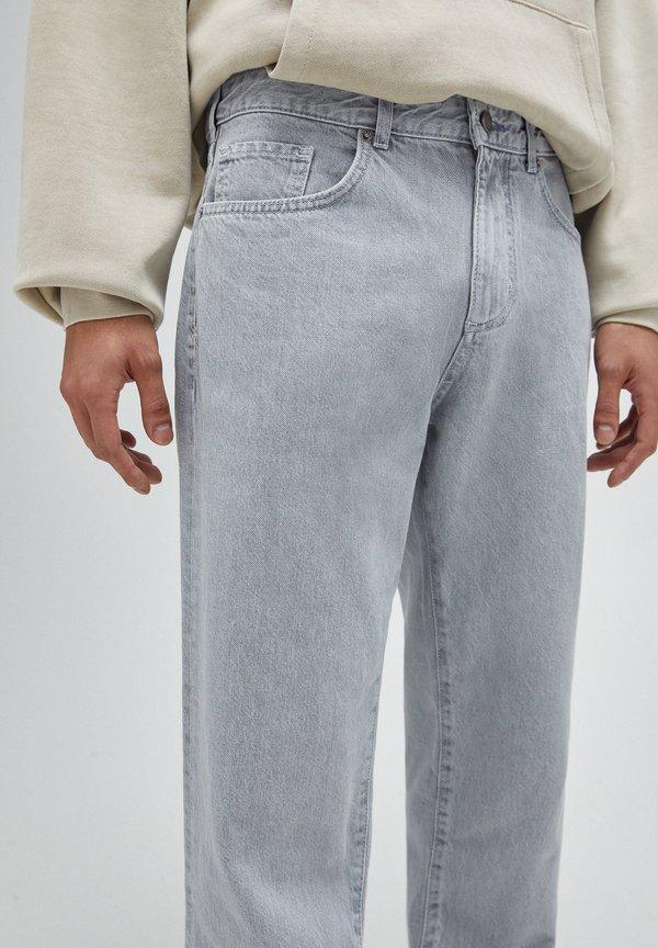 PULL&BEAR Jeansy Straight Leg - grey/szary Odzież Męska IPWK