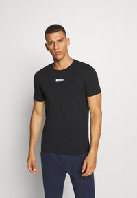 Jack & Jones Performance - JCOZSS TEE SLIM FIT 2 PACK - Basic T-shirt - black/white - 3