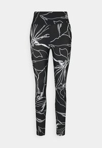 DKNY - ETCH FLORAL PRINT HIGH RISE 7/8 - Leggings - black - 4